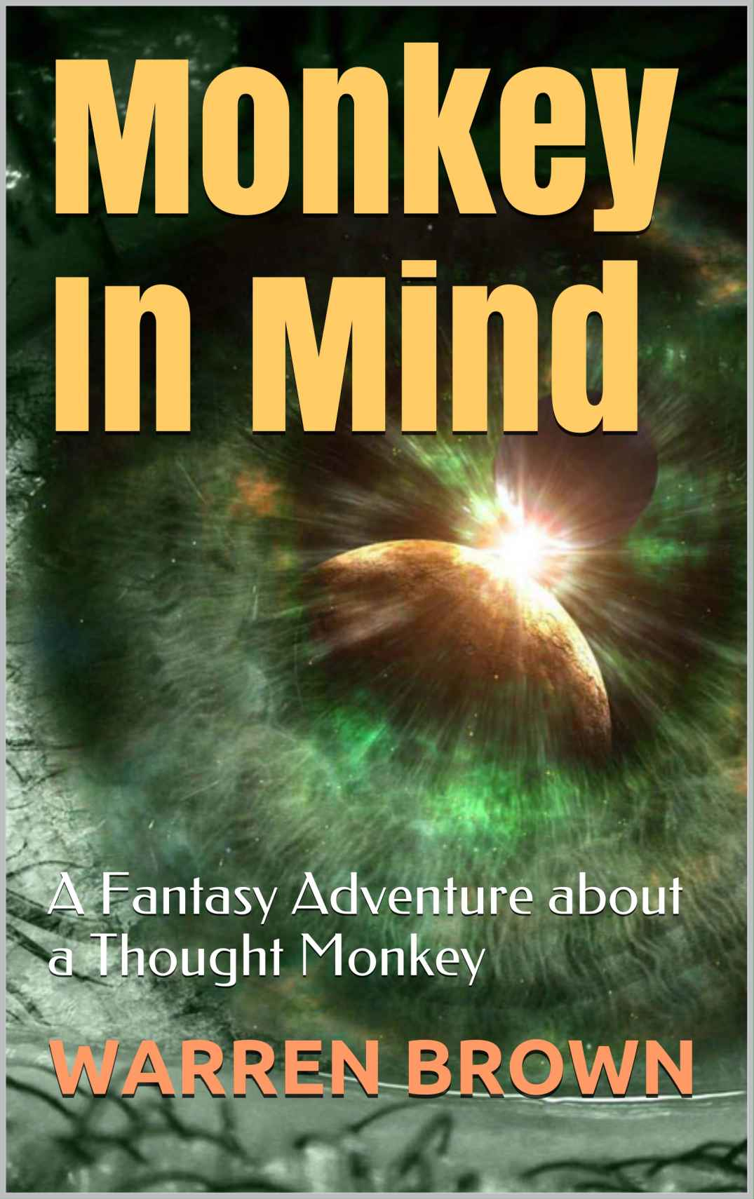 Fantasy Adventure Book Cover ~ Monkey in mind a fantasy adventure about thought